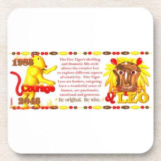 Valxart 1986 2046 FireTiger zodiac Leo Drink Coaster