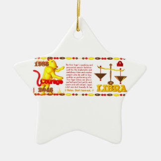 Valxart 1986 2046 libras del zodiaco de FireTiger Ornamentos De Navidad