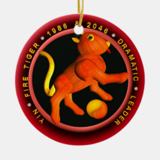 Valxart 1986 2046 zodiacos Piscis de FireTiger Ornamentos De Navidad