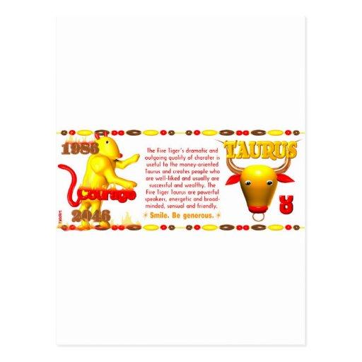Valxart 1986 2046 zodiacos Piscis de FireTiger Tarjeta Postal