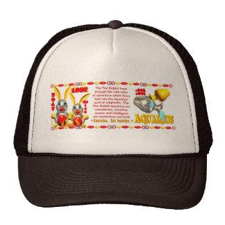 Valxart 1987 2047 FireRabbit zodiac Aquarius Trucker Hats