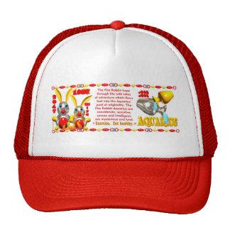 Valxart 1987 2047 FireRabbit zodiac Aquarius Trucker Hat