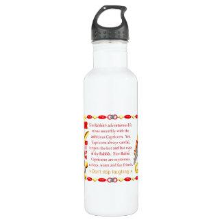 Valxart 1987 2047 FireRabbit zodiac Capricorn 24oz Water Bottle