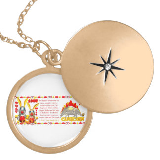 Valxart 1987 2047 FireRabbit zodiac Capricorn Round Locket Necklace