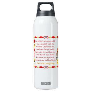Valxart 1987 2047 FireRabbit zodiac Capricorn Thermos Bottle