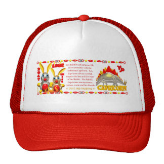 Valxart 1987 2047 FireRabbit zodiac Capricorn Trucker Hat