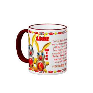 Valxart 1987 2047 FireRabbit zodiac Libra Ringer Mug