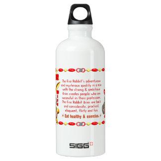 Valxart 1987 2047 FireRabbit zodiac Libra Water Bottle