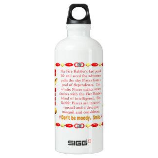 Valxart 1987 2047 FireRabbit zodiac Pisces SIGG Traveler 0.6L Water Bottle