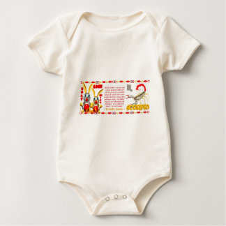 Valxart 1987 2047 FireRabbit zodiac Scorpio Baby Bodysuit