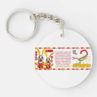 Valxart 1987 2047 FireRabbit zodiac Scorpio Double-Sided Round Acrylic Keychain