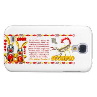 Valxart 1987 2047 FireRabbit zodiac Scorpio Galaxy S4 Case
