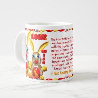 Valxart 1987 2047 FireRabbit zodiac Scorpio Giant Coffee Mug
