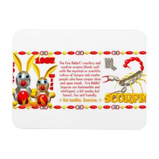 Valxart 1987 2047 FireRabbit zodiac Scorpio Rectangular Photo Magnet