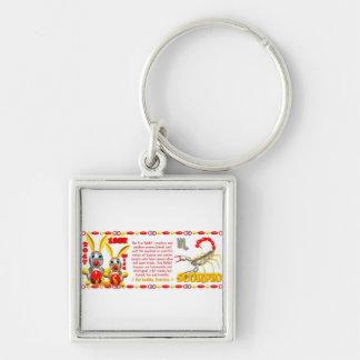 Valxart 1987 2047 FireRabbit zodiac Scorpio Silver-Colored Square Keychain