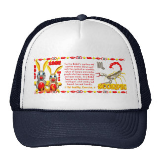 Valxart 1987 2047 FireRabbit zodiac Scorpio Trucker Hat