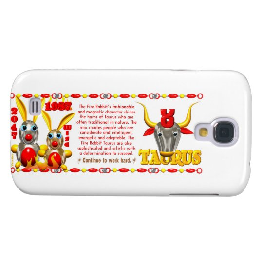 Valxart 1987 2047 FireRabbit zodiac Taurus Galaxy S4 Case