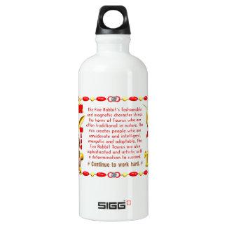 Valxart 1987 2047 FireRabbit zodiac Taurus SIGG Traveler 0.6L Water Bottle