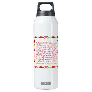Valxart 1987 2047 FireRabbit zodiac Virgo 16 Oz Insulated SIGG Thermos Water Bottle
