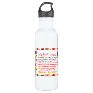Valxart 1987 2047 FireRabbit zodiac Virgo 24oz Water Bottle