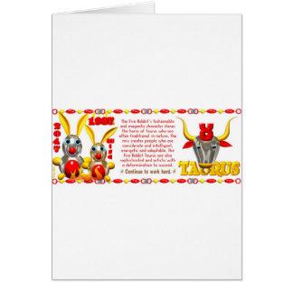 ValxArt 1987 2047 zodiac fire rabbit born Taurus Card