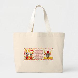 ValxArt 1987 2047 zodiac fire rabbit born Taurus Large Tote Bag