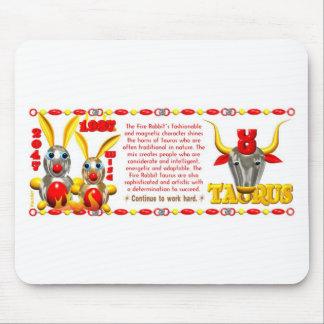 ValxArt 1987 2047 zodiac fire rabbit born Taurus Mouse Pad