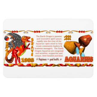 Valxart 1988 2048 EarthDragon zodiac Aquarius Magnet