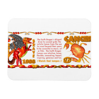 Valxart 1988 2048 EarthDragon zodiac Cancer Magnet