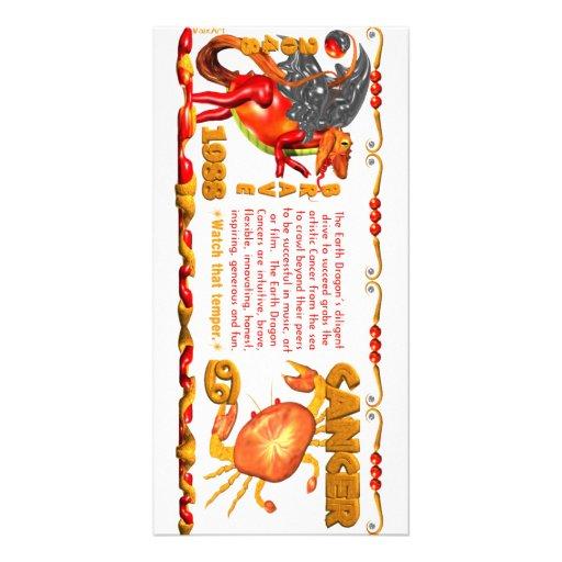 Valxart 1988 2048 EarthDragon zodiac Cancer Photo Greeting Card