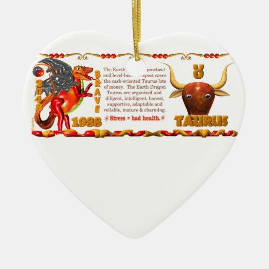 Valxart 1988 2048 EarthDragon zodiac Taurus Ceramic Ornament