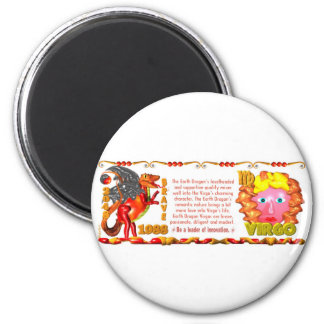 Valxart 1988 2048 EarthDragon zodiac Virgo 2 Inch Round Magnet