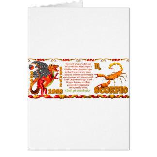 Valxart 1988 2048 escorpiones del zodiaco de Earth Tarjeta De Felicitación