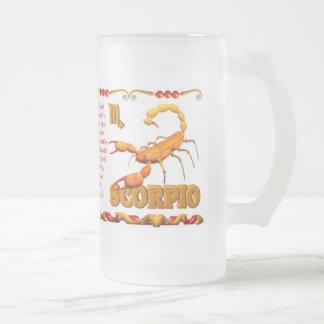 Valxart 1988 2048 escorpiones del zodiaco de Earth Taza Cristal Mate