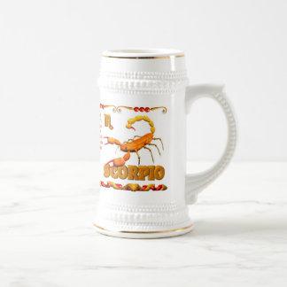 Valxart 1988 2048 escorpiones del zodiaco de Earth Jarra De Cerveza