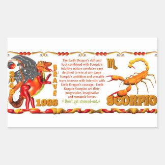 Valxart 1988 2048 escorpiones del zodiaco de pegatina rectangular