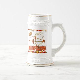 Valxart 1988 2048 sagitarios del zodiaco de EarthD Jarra De Cerveza