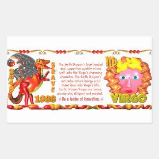 Valxart 1988 2048 virgos del zodiaco de pegatina rectangular