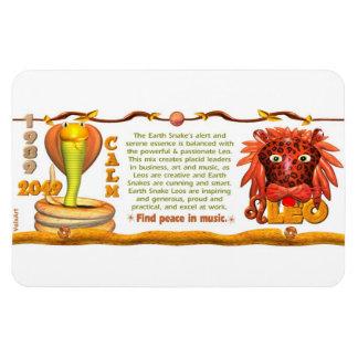 Valxart 1989 2049 EarthSnake zodiac Leo Rectangular Photo Magnet