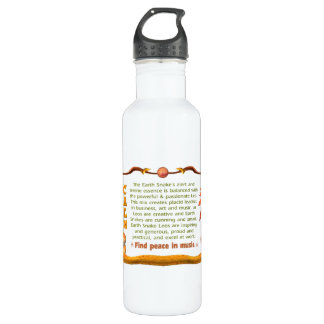 Valxart 1989 2049 EarthSnake zodiac Leo Water Bottle