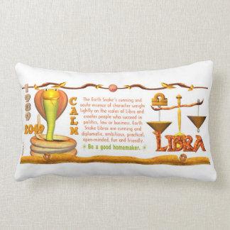 Valxart 1989 2049 EarthSnake zodiac Libra Throw Pillow