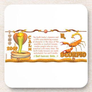 Valxart 1989 2049 EarthSnake zodiac Scorpio Drink Coaster