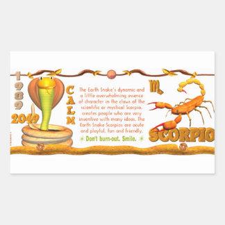 Valxart 1989 2049 escorpiones del zodiaco de pegatina rectangular