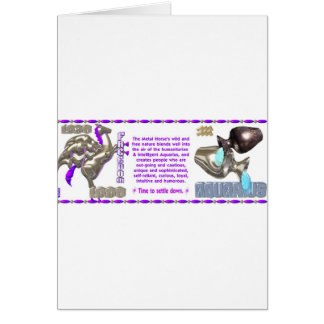 Valxart 1990 2050 MetalHorse zodiac Aquarius Cards