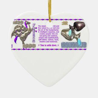 Valxart 1990 2050 MetalHorse zodiac Aquarius Ceramic Ornament