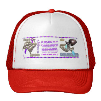 Valxart 1990 2050 MetalHorse zodiac Aquarius Mesh Hats