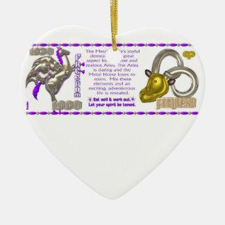 Valxart 1990 2050 MetalHorse zodiac Aries Ceramic Ornament