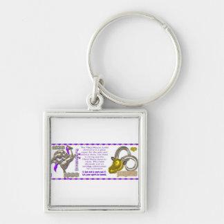 Valxart 1990 2050 MetalHorse zodiac Aries Silver-Colored Square Keychain