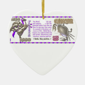Valxart 1990 2050 MetalHorse zodiac Cancer Ceramic Ornament