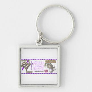 Valxart 1990 2050 MetalHorse zodiac Cancer Silver-Colored Square Keychain